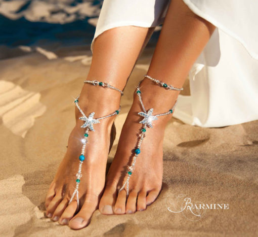 Blue Starfish Barefoot Sandals